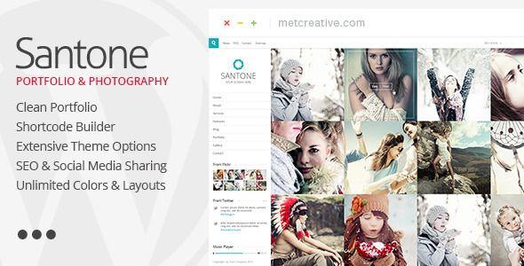 Santone - Clean Portfolio & Photography #Wordpress #Responsive Template - #html5 #css3 #jquery slider ready