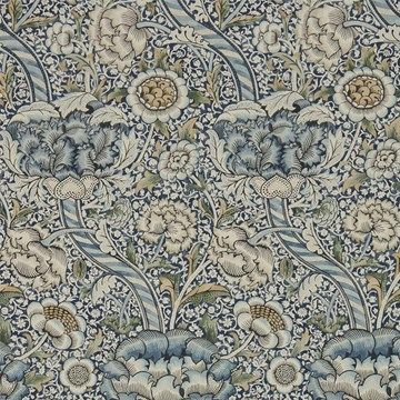 William Morris Wandle Blue/Stone Tapet