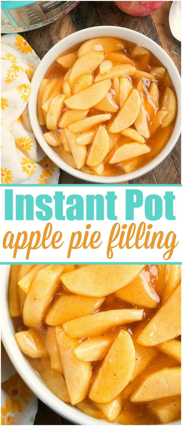 Easy homemade pressure cooker apple pie filling recipe you