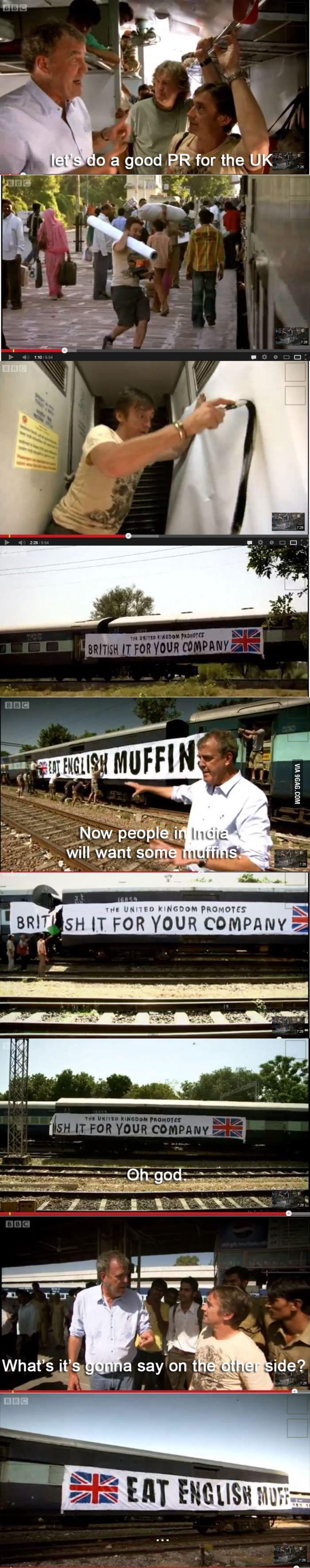 Don't let Top Gear makes advertising.