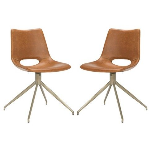 danube midcentury modern leather swivel dining chair safavieh rh in pinterest com