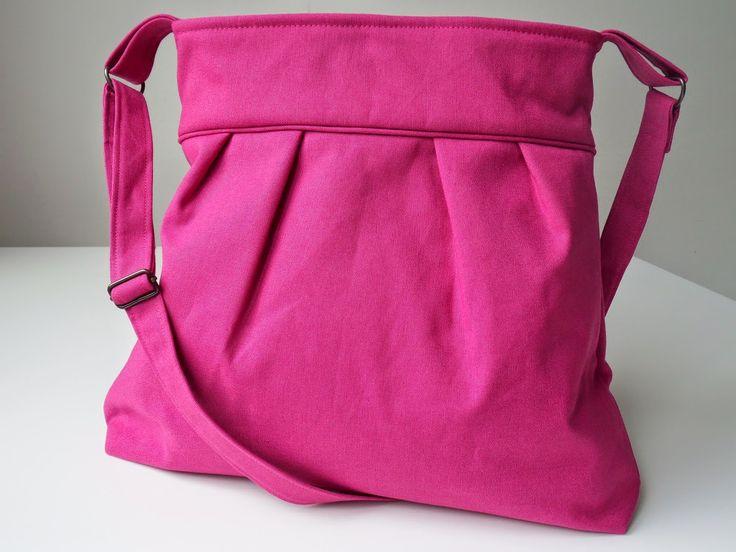 lapje voor lapje: Een schoudertas met plooien