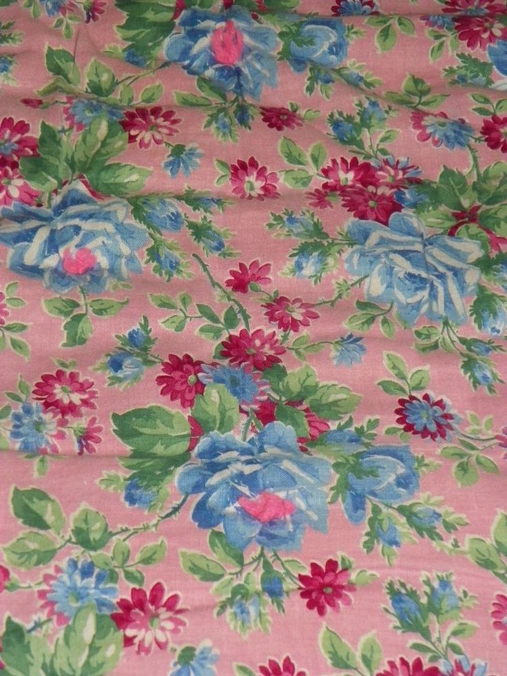 """Gorgeous Vintage Roses Posies Bedspread Comforter Duvet 68"""" X 80 Double Sided"""