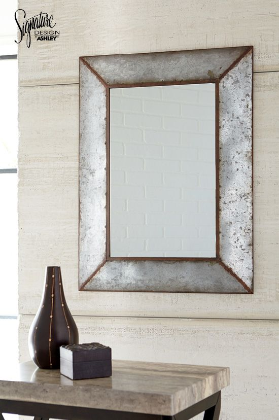 Elegant Modern Industrial Style Is Looking Better Than Ever In The Ou0027Tallay Accent  Mirror.