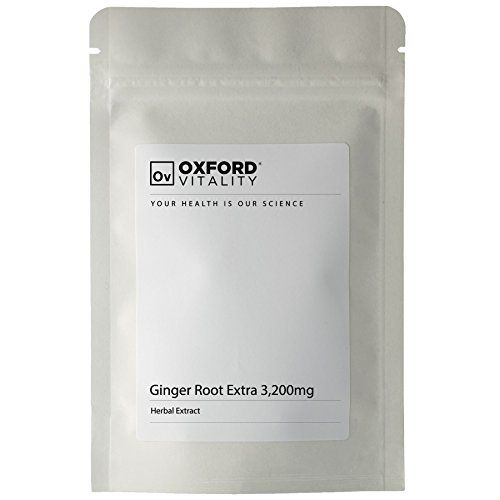 The Product Ginger Tablets | 3200mg Root Extract Pills for Digestive Health | Oxford Vitality ®  Can Be Found At - http://vitamins-minerals-supplements.co.uk/product/ginger-tablets-3200mg-root-extract-pills-for-digestive-health-oxford-vitality/