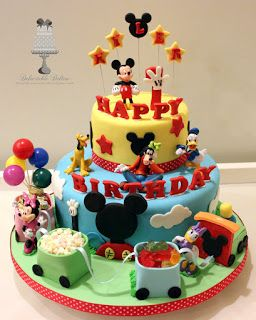 Delectable Delites: Mickey mouse clubhouse with train