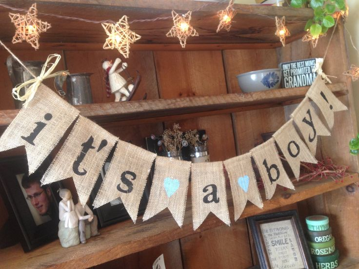 burlap baby shower ideas - Google Search