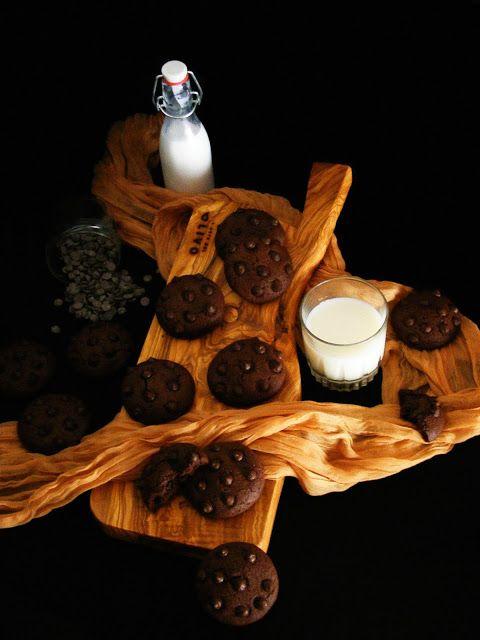 La asaltante de dulces: Receta de galletas chocolate total/ Super chocolate cookies recipe. Only for chocolate lovers!!