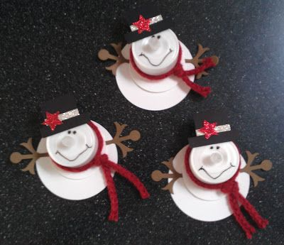 Holly's Stamping Addiction: Snowman Votives