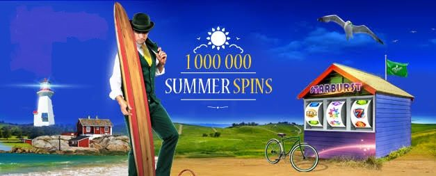 MrGreen 1,000,000 Summer Free Spins Campaign This summer, exclusively at Mr Green, players will be swimming in a pool of ONE MILLION Free Spins. From June 22nd – July 5th, players have the chance to claim their share of 1,000,000 Free Spins up to four times each week. Players can choose from four different deposit tiers and four of the world's most popular slot games. UK,Austria,Netherlands,Sweden,Norway,Finland,Germany,Poland,Ireland,Czech,Int