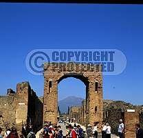 Italy pompeii city bay of naples