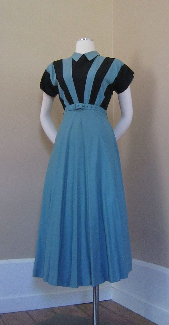 V for VICTORY Vintage 1940s 40s Wwii Swing uso Lindy Dress ...