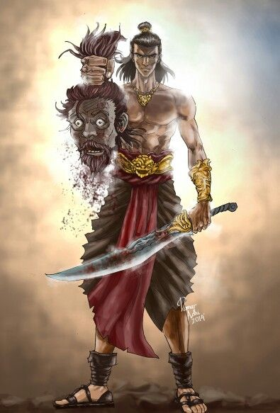 Digital painting, javanese folklore