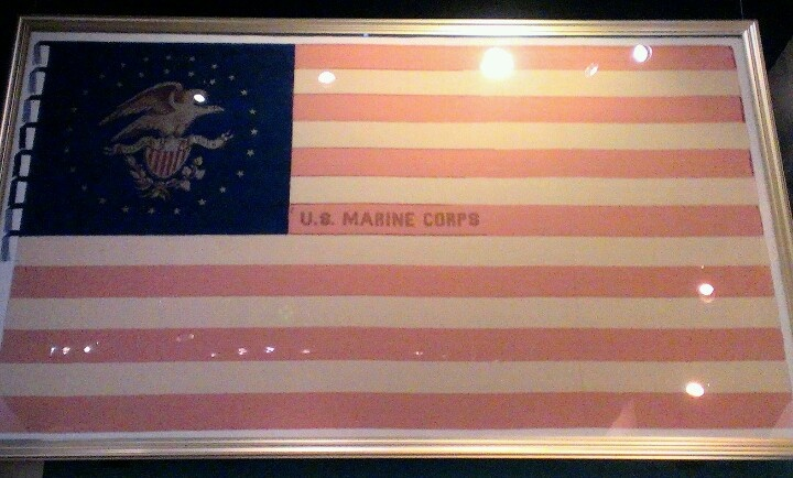You've heard our hymn, which speaks of the halls of Montezuma? This flag was carried in the Mexican American war of 1847 by a Marine Battalion attached to General Winfield Scott's army during the storming of Chapultepec. Semper Fidelis #USMC #NMMC #Corps #flag #Quitman #Quantico