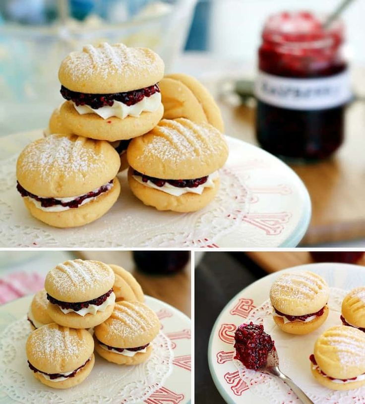 Melting Moments Biscuits With Jam