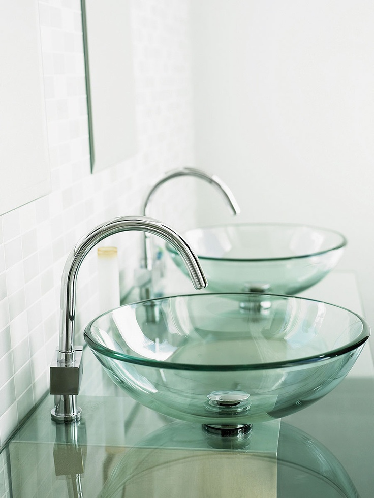 12 best glass vessel sink ideas images on pinterest glass vessel vessel sink and bathroom sinks - Vessel sink ideas ...