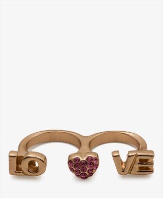 Two-Finger Love Ring | FOREVER21 - 1020928158