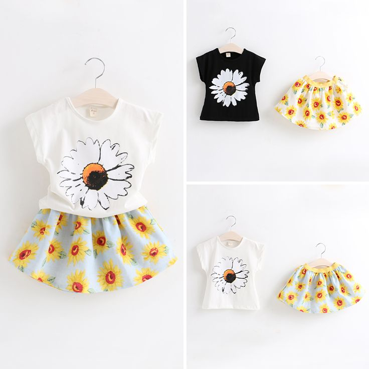 Корейская версия 2015 Летний Новый Детская одежда Девочки цветов с короткими рукавами костюм куртка + юбка 2 - Taobao