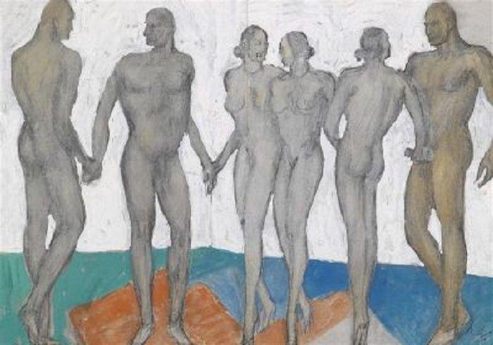 Alfons Walde - Drei Männer, drei Frauen = 6 begnadete Körper