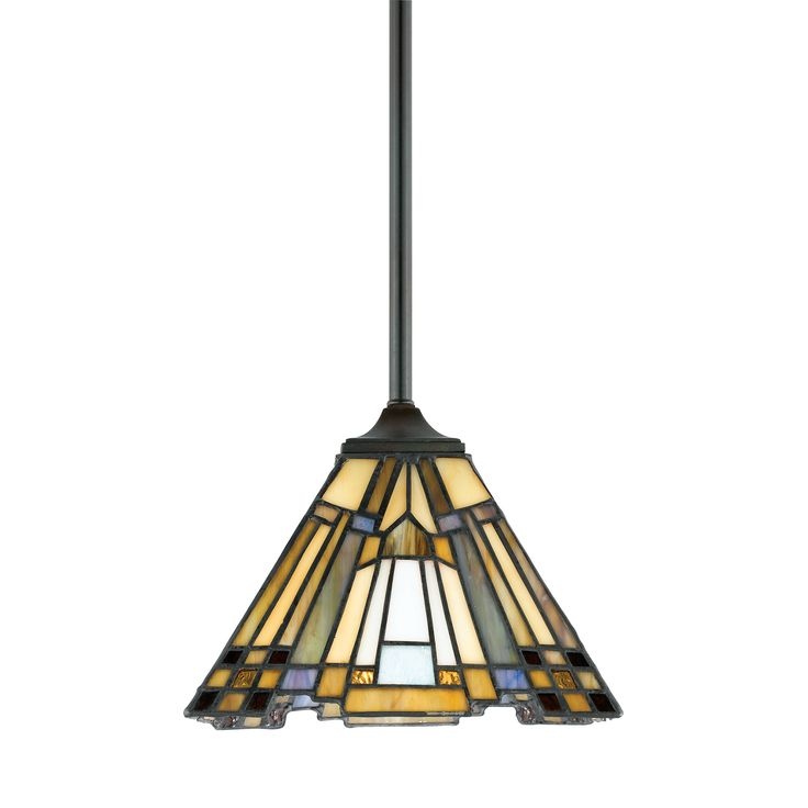 Quoizel Tiffany Inglenook Small Ceiling Pendant Light by Elstead Lighting. Discover our ranges of Tiffany Lamp, Art Deco and Traditional Lighting , free delivery.