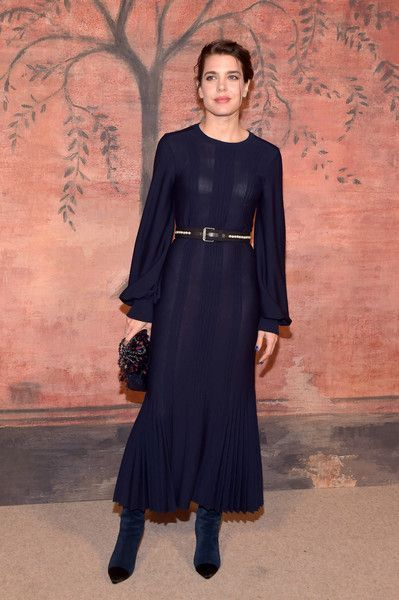 "Charlotte Casiraghi no ""Chanel Cruise 2017/2018 Collection"" no Grand Palais de Paris"