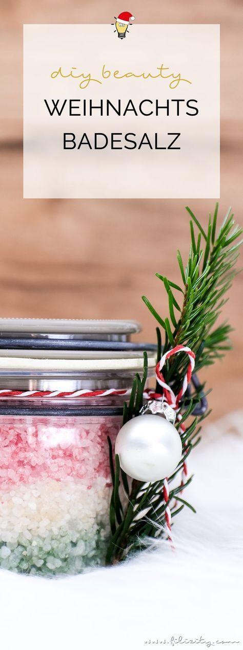 Geschenkidee: DIY Weihnachts-Badesalz