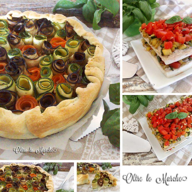 Torta di rose salata con verdure | Oltre le Marche