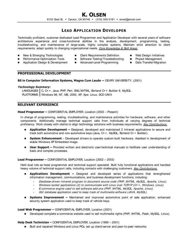 Statistician Resume Cover Letter http//www.resumecareer