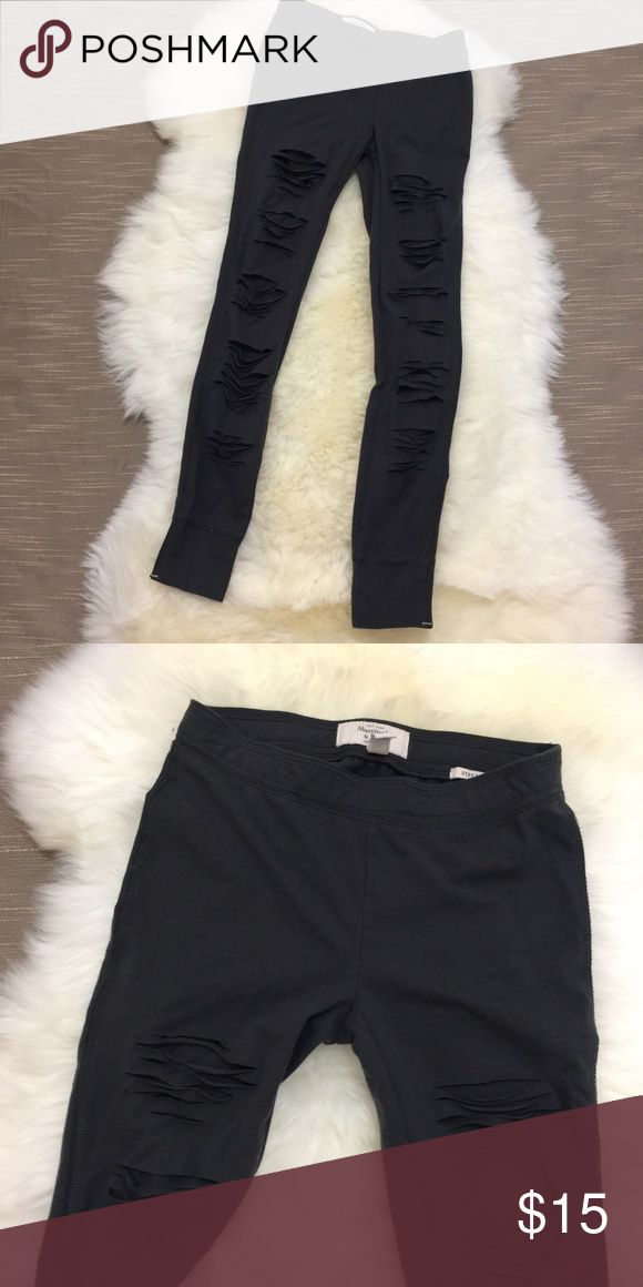 Abercrombie and Fitch leggings Only worn once. Like new Abercrombie & Fitch Pants Leggings