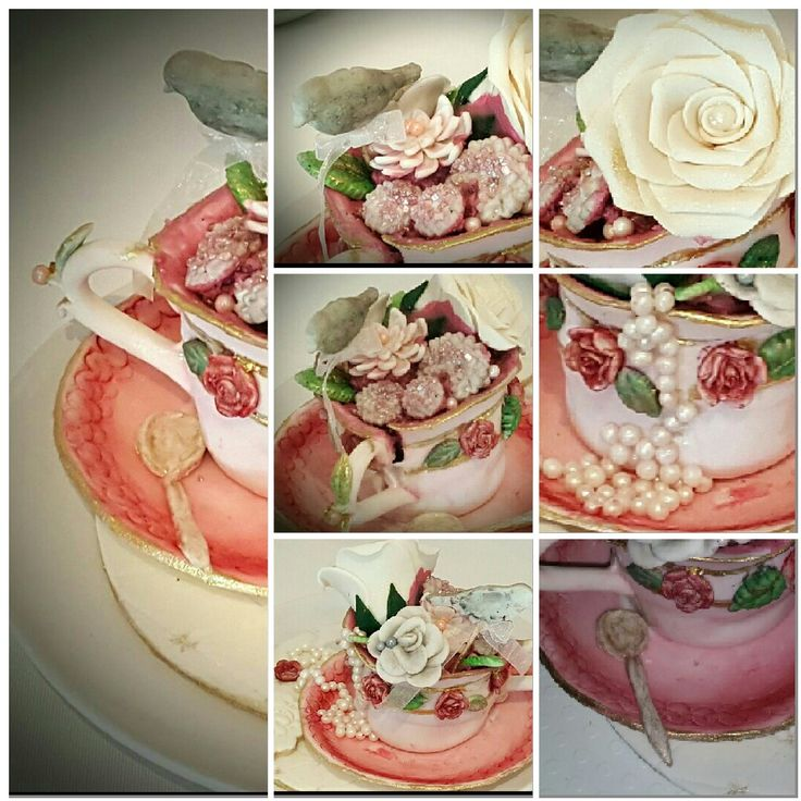 Red velvet vintage Tea cup cup cake