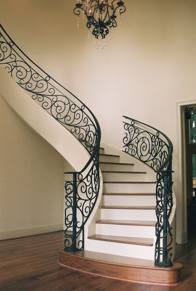 25 best ideas about iron stair railing on pinterest wrought iron stair railing iron. Black Bedroom Furniture Sets. Home Design Ideas