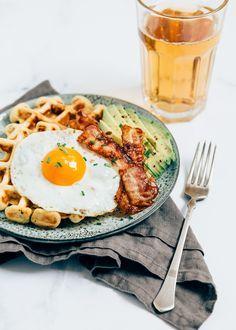 Hartige wafels #savoury parmezan waffles with bacon