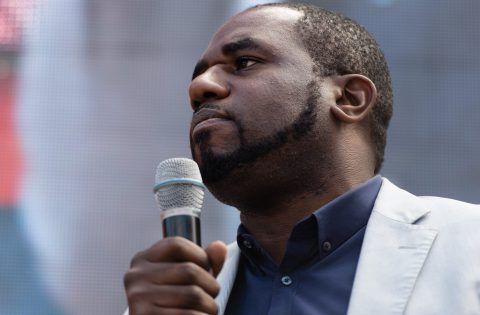 Mandatory Credit: Photo by Richard Isaac/REX/Shutterstock (5744373bz) David Lammy MP, speaking outside the Houses of Parliament in Parliament square, where a range of speakersare due to speak in front of protestors. Anti Brexit march, London, UK - 02 Jul 2016