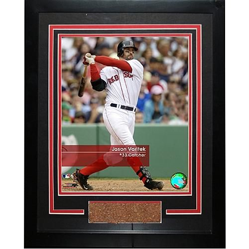 "Steiner Sports MLB Red Sox Jason Varitek ""Feel the Game"" Framed Photo with Game Used Dirt"