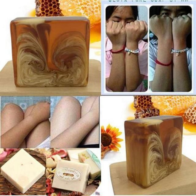 Check out Nature Honey Milk Soap Glutathione Whitening Skin Beauty Bleaching Kojic Acid