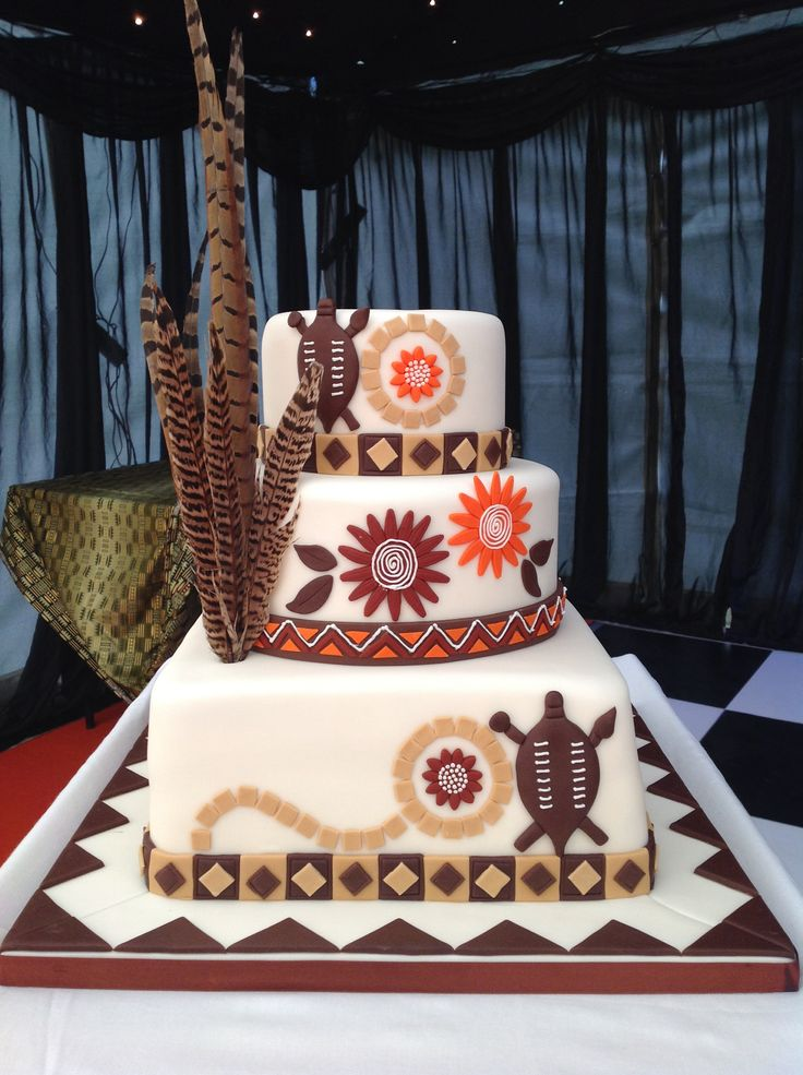 African theme wedding grooms cake