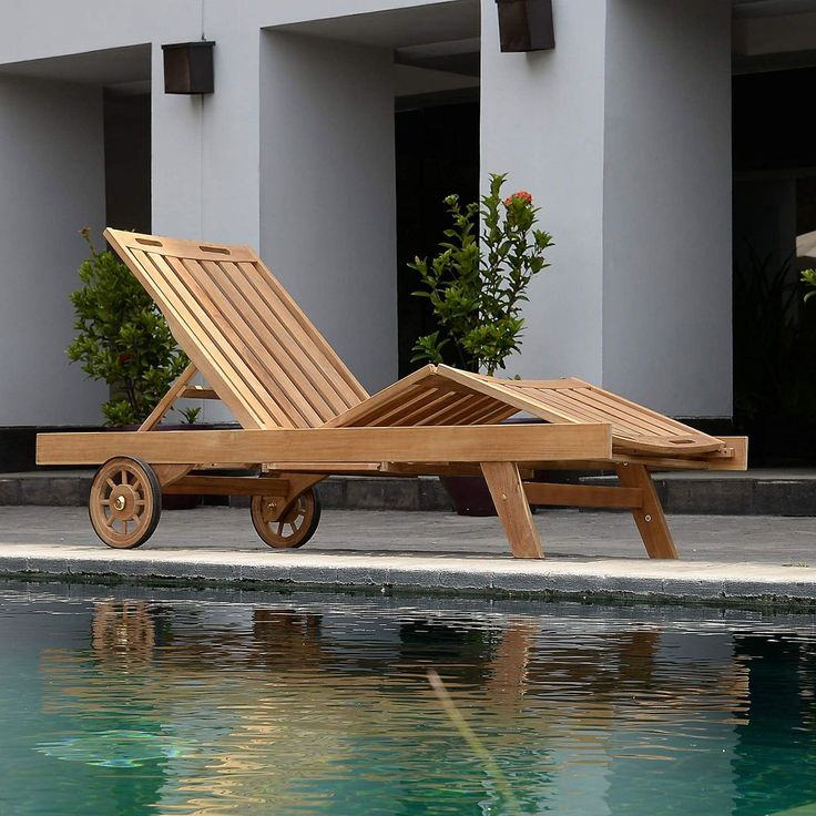 Teak Sun Lounger - Sam's Club
