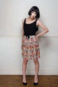 Vintage pleated floral mini skirt - Skirts - Womens Vintage   Retro & Vintage Clothes UK
