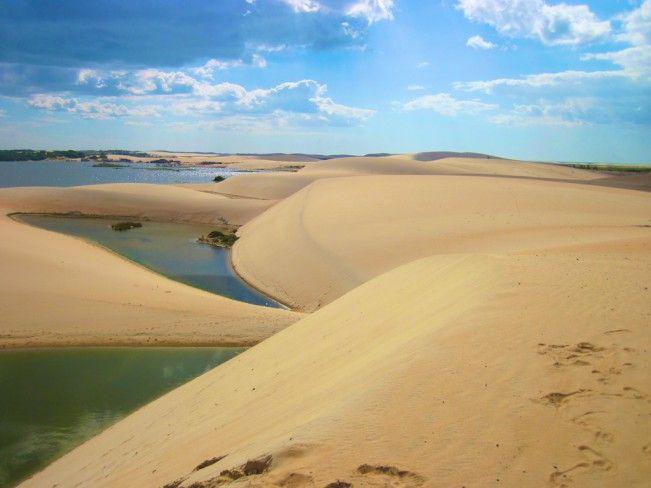Pequenos Lençóis em Jericoacoara - Ceará #voali