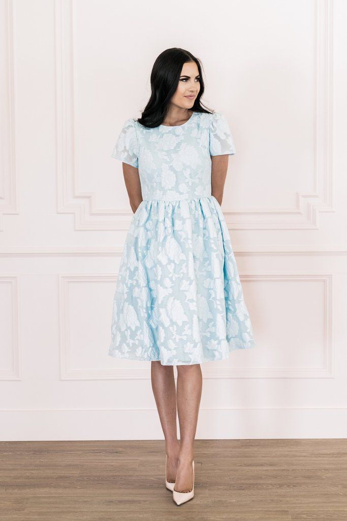 53adef1e1876 Floret Organza Dress in French Blue – Rachel Parcell, Inc. | Now ...