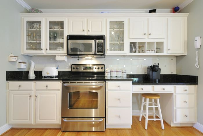 weisse küchenschränke parkett einbauküche gebraucht kaufen