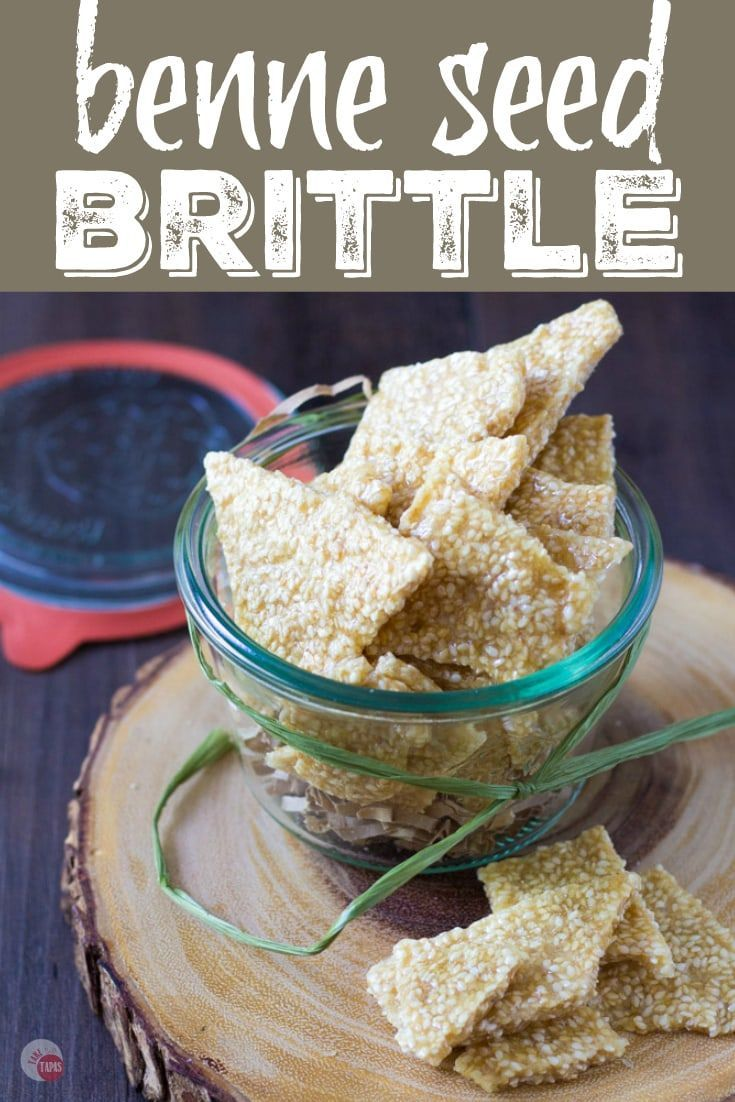 Ma's Benne Seed Brittle Candy Recipe | Take Two Tapas | #BenneSeed #SesameSeeds #brittle #BenneBrittle #BenneCandy