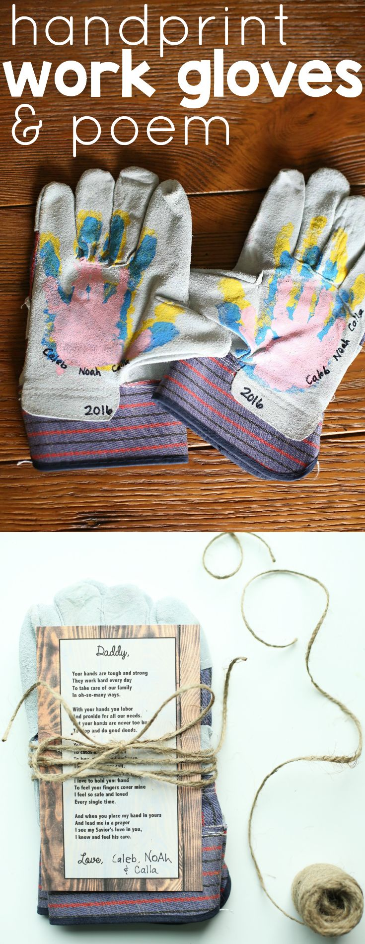 90 best fathers day ideas images on pinterest crafts for kids handprint work gloves and poem for fathers day solutioingenieria Image collections