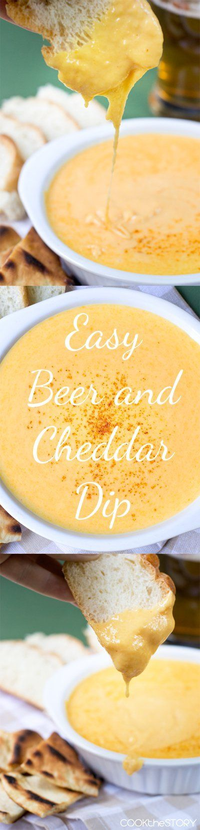 Super quick and easy to make! Beer and Cheese Dip. #partyfood #holiday