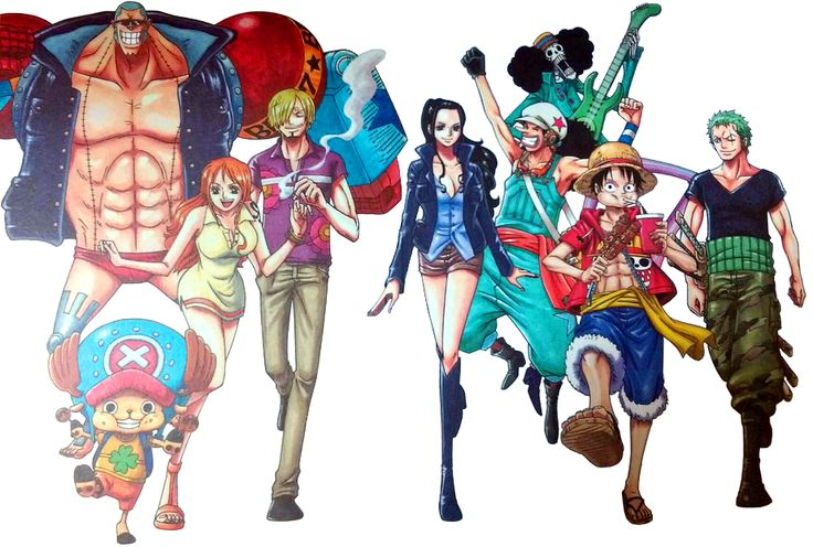 One Piece TV Special: Adventure of NebulandiaI found a photo shot of this online and tried to clean it up. I hope there's better quality of this somewhere. It's a nice picture. (I still haven't seen the tv special.)