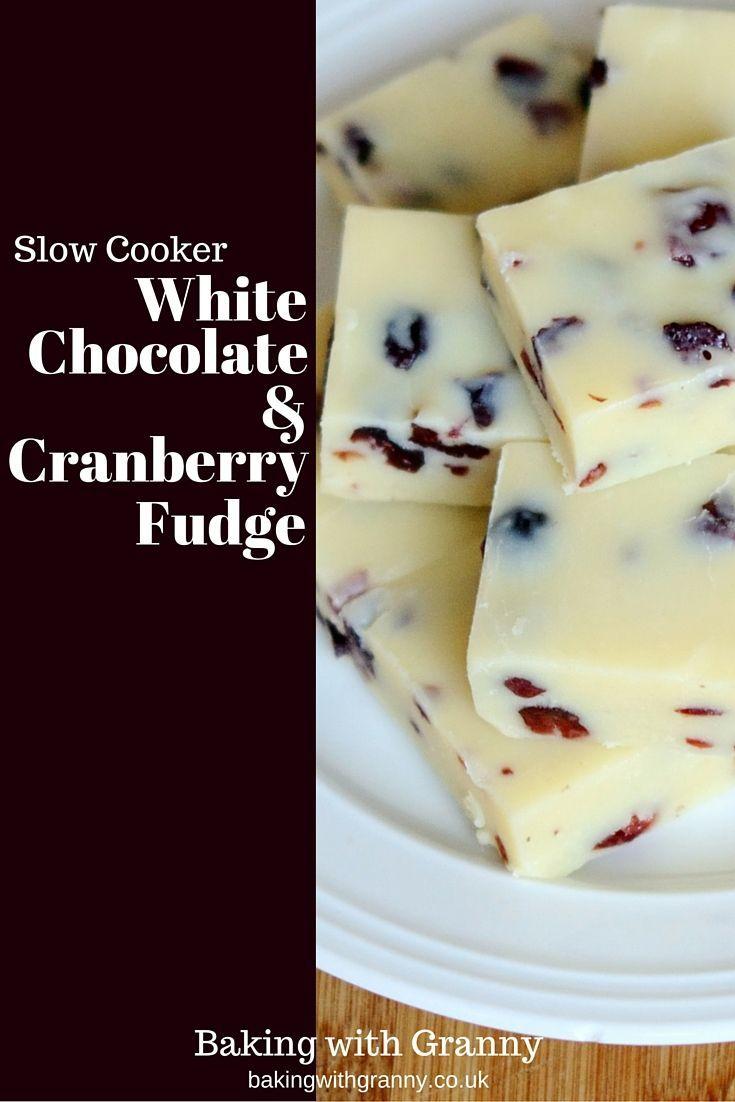 White Chocolate & Cranberry Fudge Recipe