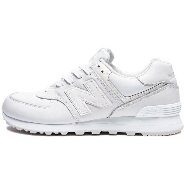 NEW BALANCE 574 WHITE OUT (1.805 UYU) ❤ liked on Polyvore featuring accessories and new balance