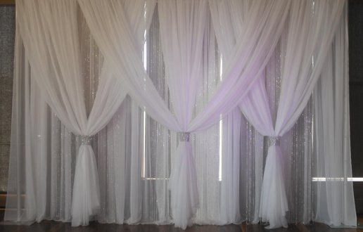 With 7 over panels--note the middle section is different// Wedding Backdrop