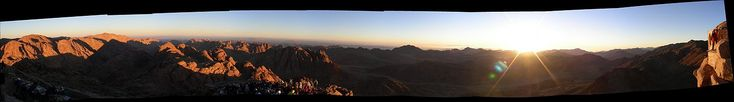 View from the summit of Mt. Sinai