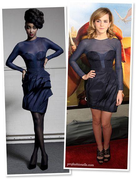 Emma Watson - William Tempest Midnight Blue Sheer Dress